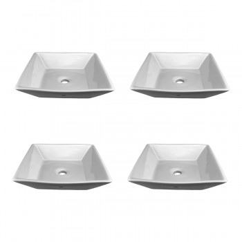<PRE>Renovator's Supply White Vessel Sink Square Grade A Vitreous China Set of 4</PRE>zoom1