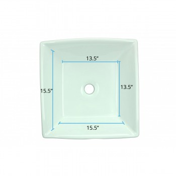spec-<PRE>Renovator's Supply White Vessel Sink Square Grade A Vitreous China Set of 4</PRE>
