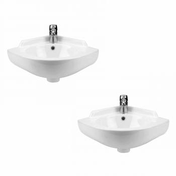 <PRE>2 Small Corner Wall Mount Sink Bathroom Basin Soap Dishes Set of 2</PRE>zoom1