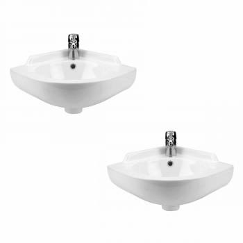 <PRE>2 Small Corner Wall Mount Sink Bathroom Basin Soap Dishes Set of 2</PRE>