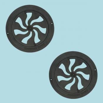 <PRE>2 Register Black Aluminum Heat Register Cast Aluminum w/Logo RSF Black</PRE>