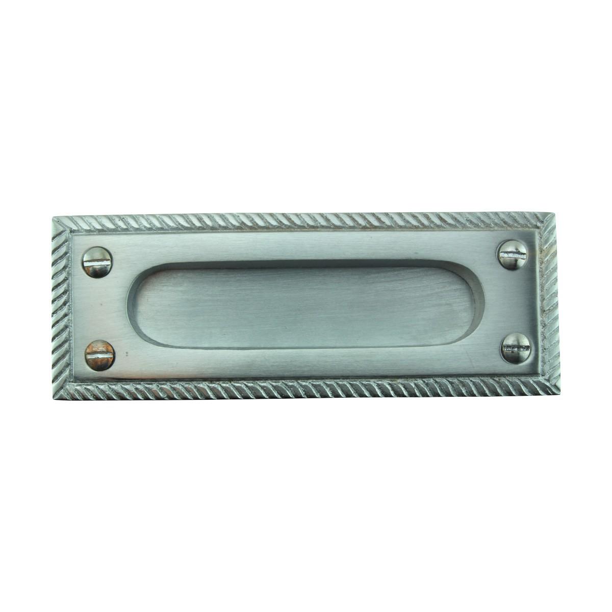 4 Rope Sash Lift Satin Chrome Brass Rectangular Chrome Sash Lift Sash Lift Brass Window Sash Hardware