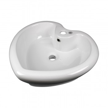 <PRE>2 Above Counter Vessel Bathroom Sink Heart White China Faucet Set of 2</PRE>zoom4