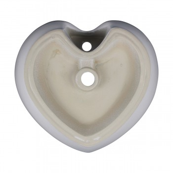<PRE>2 Above Counter Vessel Bathroom Sink Heart White China Faucet Set of 2</PRE>zoom7