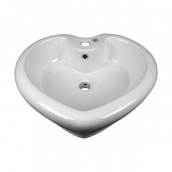 <PRE>2 Above Counter Vessel Bathroom Sink Heart White China Faucet Set of 2</PRE>zoom9