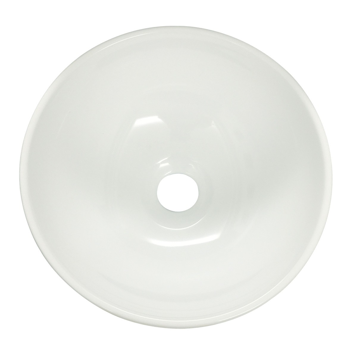 Renovators Supply Round Bathroom Countertop Vessel Sink in White bathroom vessel sinks Countertop vessel sink Compact Space Saving Small Counter Top Sink