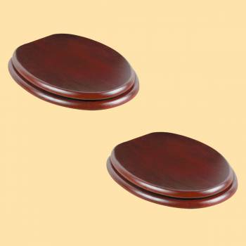 <PRE>Toilet Seat Elongated Solid Wood Cherry Chrome Brass Hinge Set of 2</PRE>zoom2