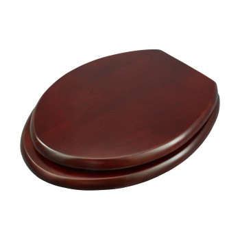 <PRE>Toilet Seat Elongated Solid Wood Cherry Chrome Brass Hinge Set of 2</PRE>zoom4