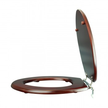 <PRE>Toilet Seat Elongated Solid Wood Cherry Chrome Brass Hinge Set of 2</PRE>zoom7