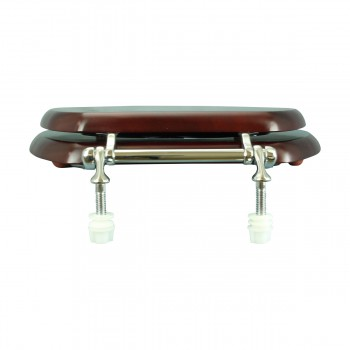 <PRE>Toilet Seat Elongated Solid Wood Cherry Chrome Brass Hinge Set of 2</PRE>zoom8