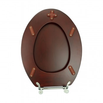 <PRE>Toilet Seat Elongated Solid Wood Cherry Chrome Brass Hinge Set of 2</PRE>zoom9