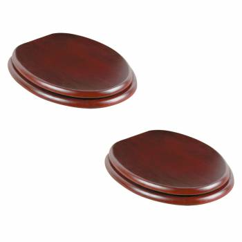 <PRE>Toilet Seat Elongated Solid Wood Cherry Chrome Brass Hinge Set of 2</PRE>zoom1