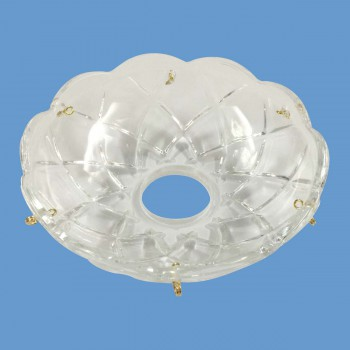 <PRE>Vintage Bobeche Clear Glass 6 Prism Hole Scallop 4inch D </PRE>zoom2