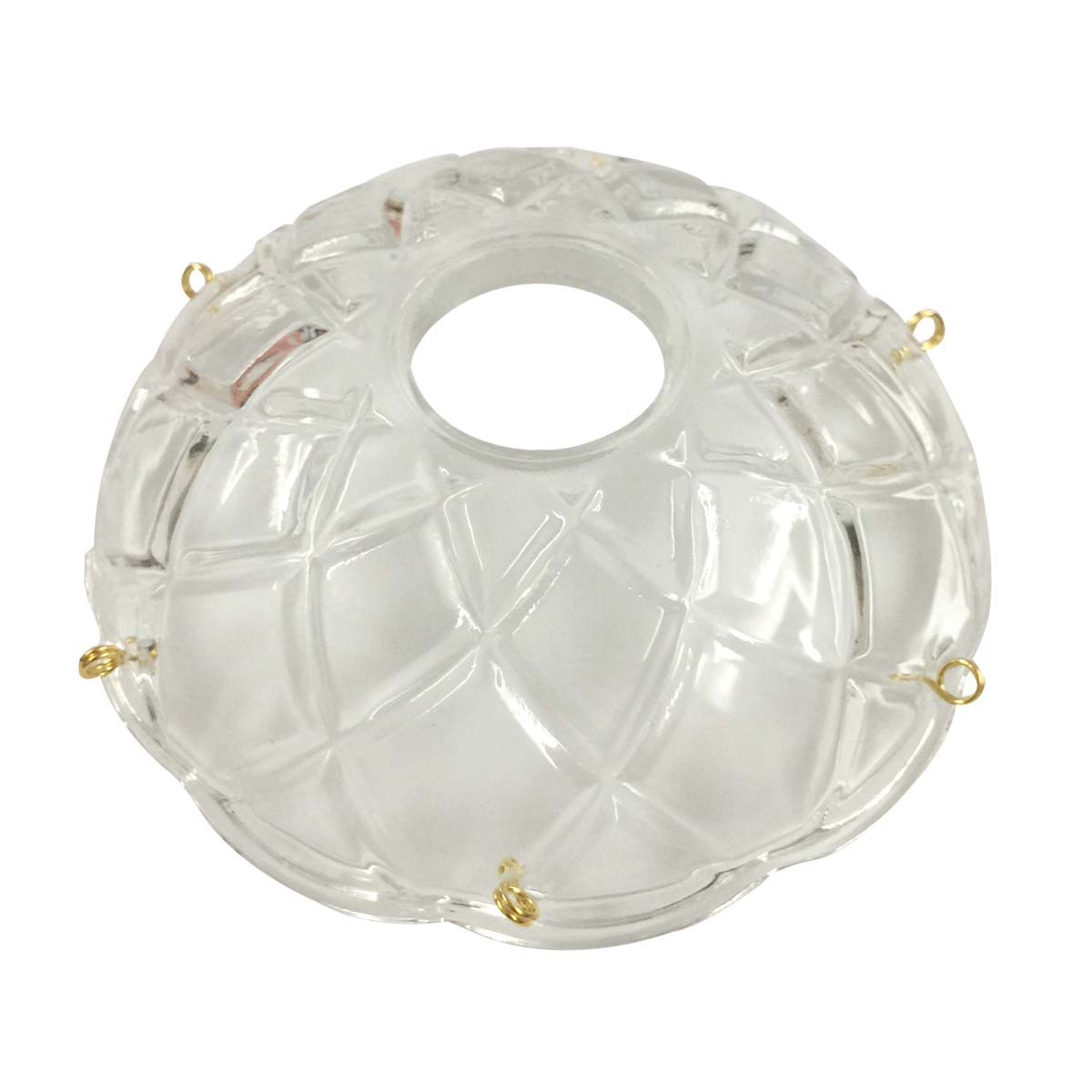 Vintage Bobeche Clear Glass 6 Prism Hole Scallop 4 D Bobeches Glass Bobeche Crystal Bobeche