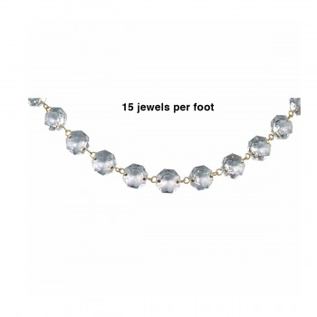 spec-<PRE>Prism Beads 16MM Clear Glass 15 Pcs One Foot String </PRE>