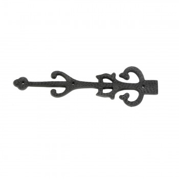 <PRE>4 Dummy Strap Hinges Black Wrought Iron Decorative </PRE>zoom3