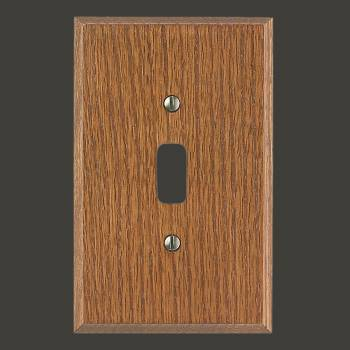 <PRE>Switchplate Dark Solid Oak Toggle Or Dimmer </PRE>