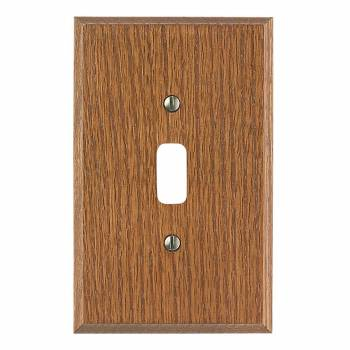 Switchplate Dark Solid Oak Toggle Or Dimmer 34024grid