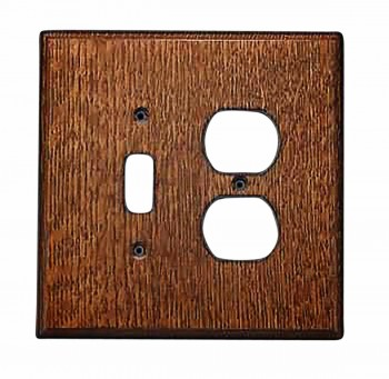 Switchplate Oak Toggle/Outlet 34027grid