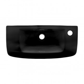 <PRE>Wall Mount Bathroom Sink Black Grade A China With Overflow </PRE>zoom3