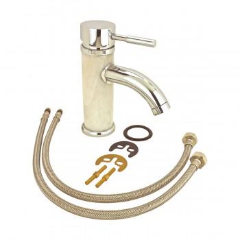 <PRE>3 Bathroom White Marble Faucet Chrome Single Hole 1 Handle </PRE>zoom7