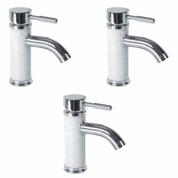 <PRE>3 Bathroom White Marble Faucet Chrome Single Hole 1 Handle </PRE>
