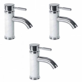 <PRE>3 Bathroom White Marble Faucet Chrome Single Hole 1 Handle </PRE>zoom1