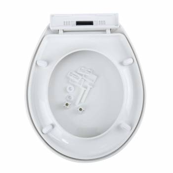 <PRE>Toilet Seat Slow EZ Close No Slam Plastic Round White Set of 3</PRE>zoom7