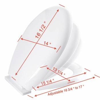 spec-<PRE>Toilet Seat Slow EZ Close No Slam Plastic Round White Set of 3</PRE>