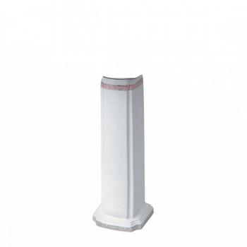 White Porcelain Portsmouth Rose Trim Pedestal Only White Pedestal Only Glossy Pedestal Only Bathroom China Pedestal Only