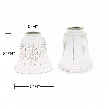 spec-<PRE>Lamp Shade Frosted Glass 5 1/16&quot; H 2 1/4&quot; Fitter </PRE>