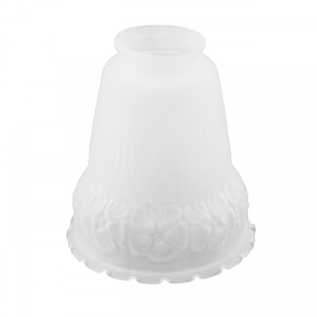 Renovators Supply White 5 12 X 2 14 Flower Bell Frosted Glass