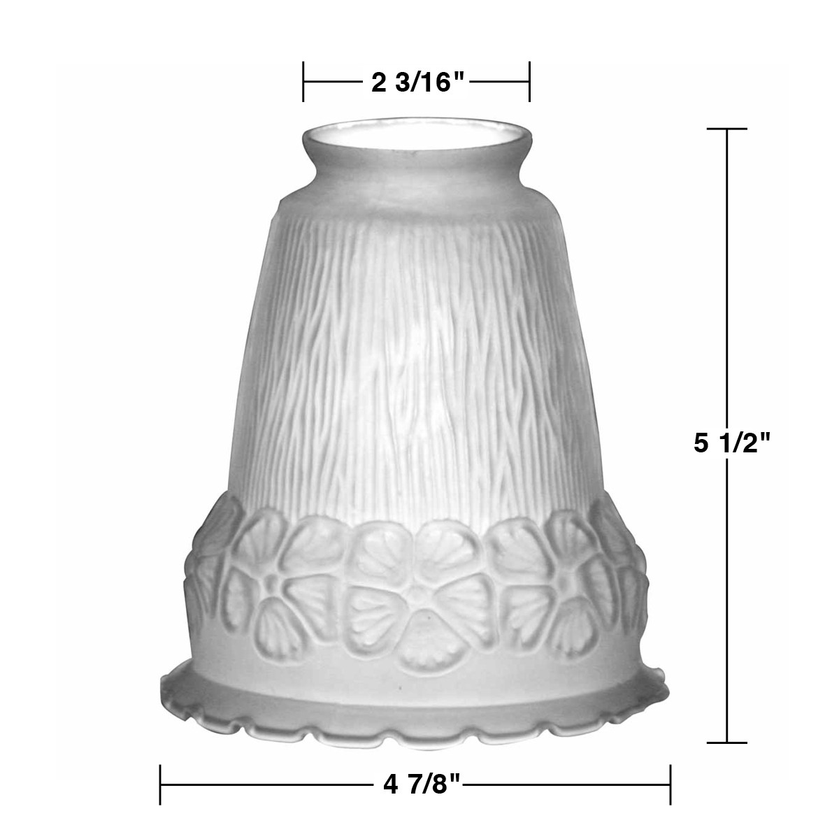 Lamp shade frosted glass flowers bell 5 1 2 h 2 1 4 fitter - Artistic d lamp shade designed with modern and elegant shape style ...