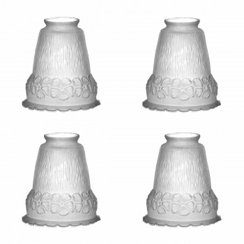 4 Frosted Glass Glass Lamp Shade 2 1/4 in. fitter