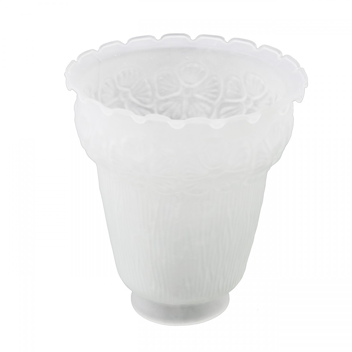 12 Lamp Shade Frosted Glass Flowers Bell 5 12 H 2 14 Fitter Lamp Shades Lamp Shade Glass Lamp Shade