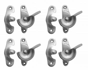 <PRE>4 Traditional Solid Brass Window Sash Lock Satin Chrome </PRE>