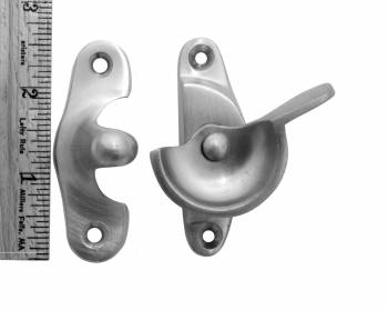 spec-<PRE>4 Traditional Solid Brass Window Sash Lock Satin Chrome </PRE>