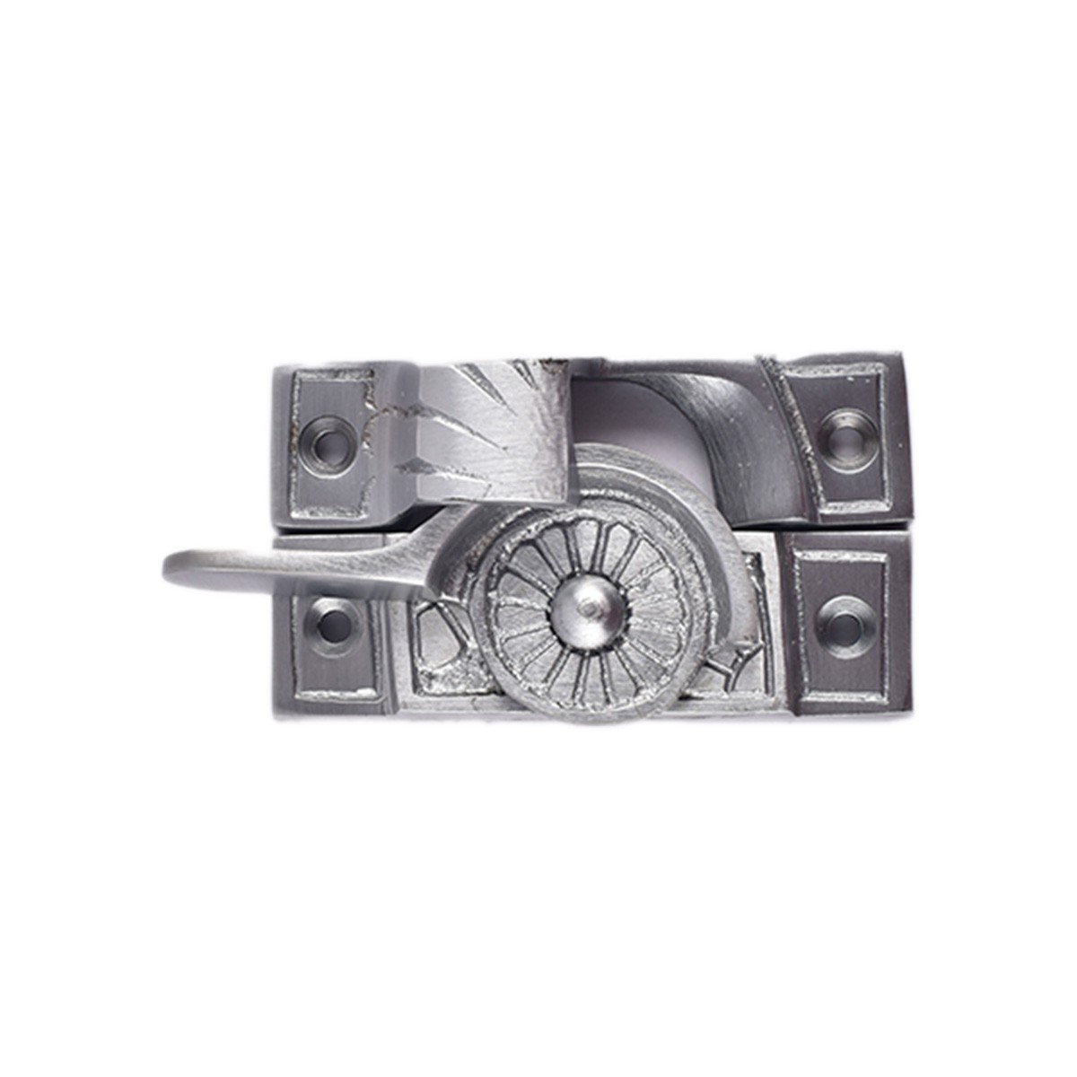 4 Ornate Solid Brass Window Sash Lock Satin Chrome Window Sash Lock Satin Window Sash Catch Sash Lift