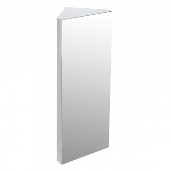 Brushed Stainless Steel Medicine Cabinet Corner Wall Mount