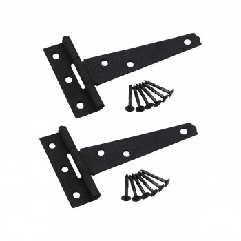 Tee Hinge Black Cast Iron Tee Hinge RSF Finish 5 Inch Set of 2