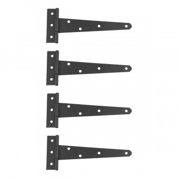 T Strap Door Hinge Black RSF Iron Light Duty Iron 7 Set of 4