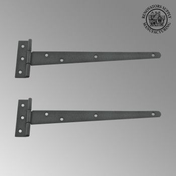 <PRE>2 T Strap Door Hinge RSF Black Iron Light Duty Iron 11inch  Set of 2</PRE>zoom2