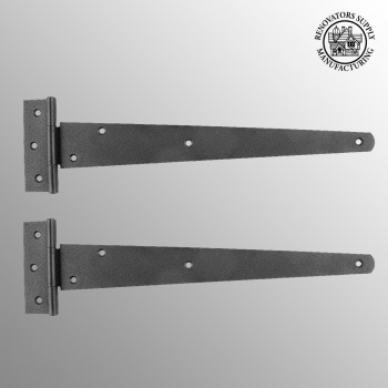 <PRE>2 T Strap Door Hinge Black RSF Iron 13inch </PRE>zoom2