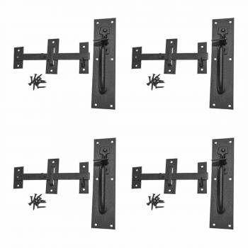 4 Gate Latches Suffolk Black Wrought Iron