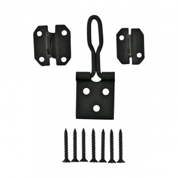 <PRE>10 Door Hasp Lock Black Wrought Iron Wire 3inch </PRE>zoom3