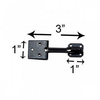 "spec-<PRE>10 Door Hasp Lock Black Wrought Iron Wire 3"" </PRE>"