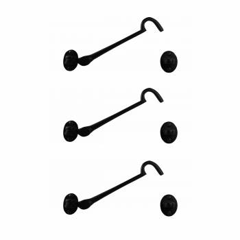 <PRE>Black Wrought Iron Eye Hook 6 inch Rustproof Pack of 3</PRE>zoom1