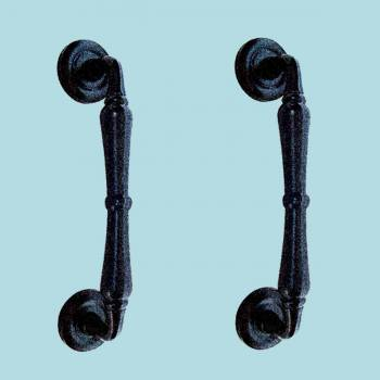 2 Door Pull Black Wrought Iron Spindle 9 H Wrought Cast Forged Iron Rustic Vintage Colonial Door Gate Handle Pull