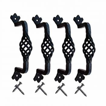 4 Cabinet Door Handle Drawer Pull Iron Birdcage 4 PCS 6