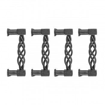 Drawer Pulls Black Wrought Iron 312 Set of 4